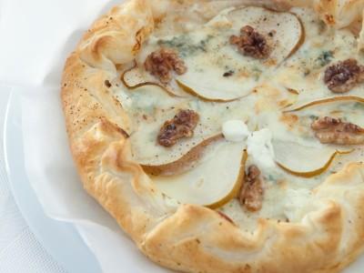 quiche gorgonzola, pera e noci