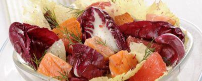 Radicchio ai due pompelmi con salmone Sale&Pepe