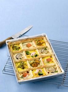 La quiche con besciamella e verdure