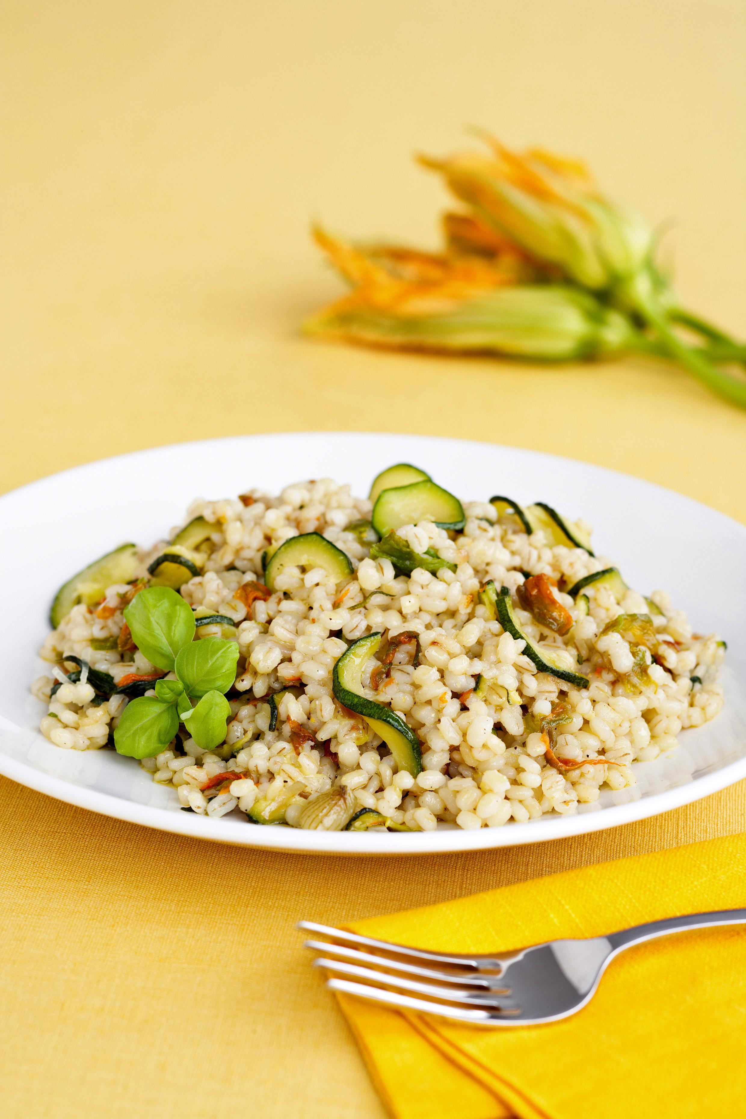 Fiori Zucchine Ricette.Orzotto Con Zucchine E Fiori Di Zucca Sale Pepe