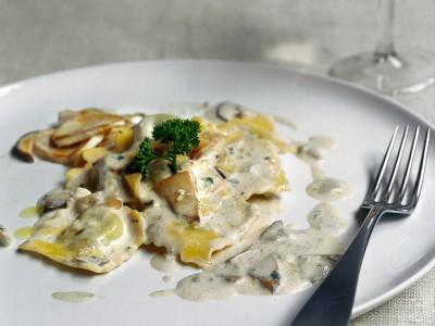 ricetta ravioli di spinaci ai funghi