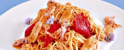 ricetta spinosini-con-fiori-di-zucca-e-calamaretti