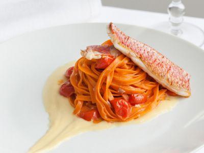 ricetta tagliolini-con-trigliette-e-crema-di-ceci