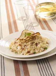 Il risotto con pere e robiola
