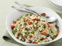 riso-con-verdure-e-gamberi preparazione