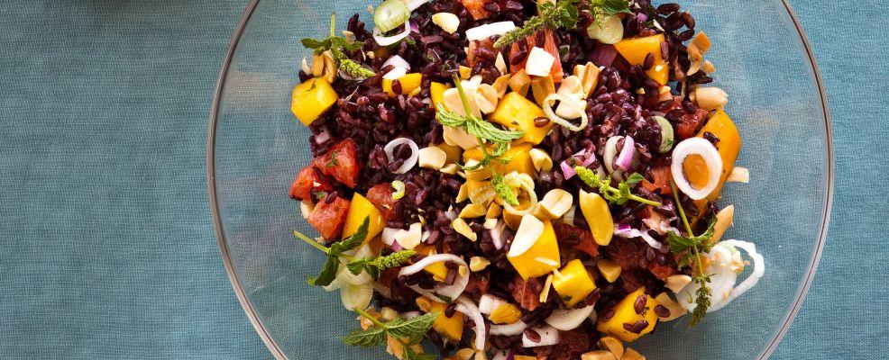 riso nero con condimento agrodolce Sale&Pepe