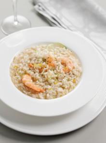 Il risotto con agrumi e gamberi