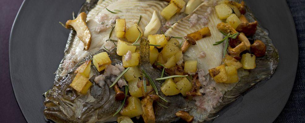 rombo-con-funghi-e-patate-al-pesto-di-lardo