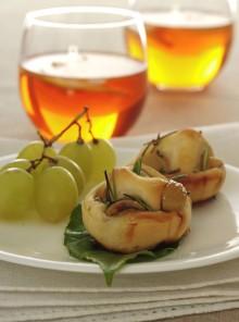 Le rondelle di focaccia all'uva