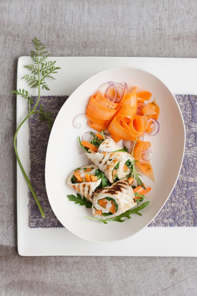 insalata dietetica con petto di pollo