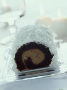 Rotolo di castagne al cocco