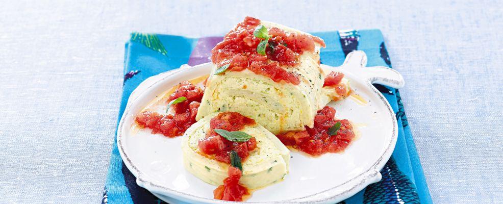 rotolo-di-patate-e-baccala-con-pomodoro-e-basilico ricetta