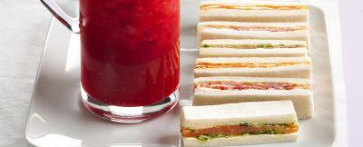 sandwich di salmone e verdure