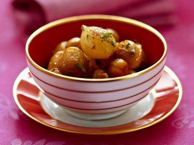 scalogni con castagne e uvetta