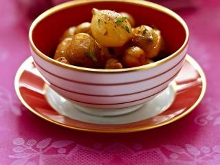 scalogni con castagne e uvetta Sale&Pepe ricetta