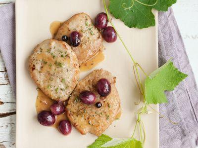 scaloppine all uva rosmarino e ginepro ricetta