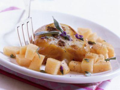 scamorza grigliata e melone ricetta