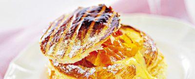 sfogliata con zabaione e arance caramellate ricetta