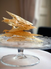 Le sfoglie da tavola – cracker aromatici