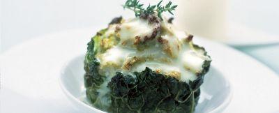 sformatini di cavolfiore con salsa tartufata ricetta