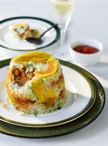 Sformato di riso con polpettine di zucca e carne