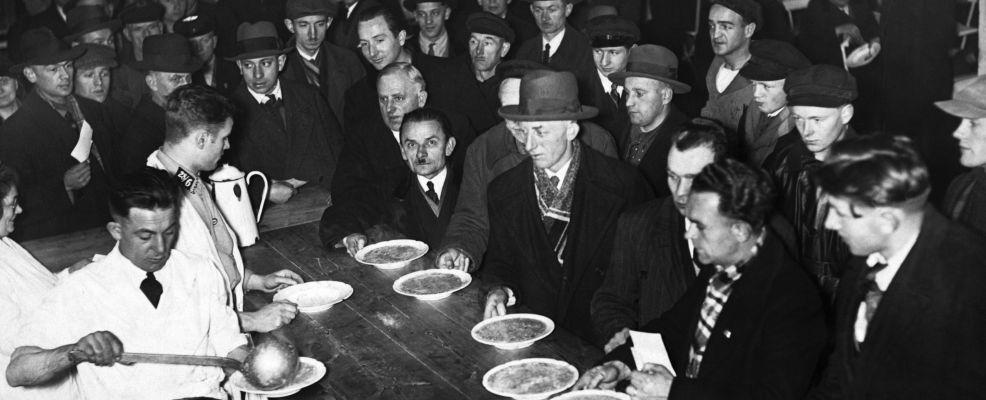 Men at Soup Kitchen