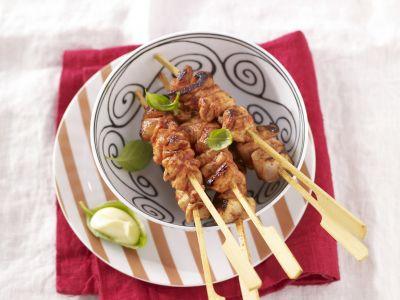 spiedini di pollo con salsa agrodolce