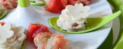 stecchi con salmone e pompelmo ricetta