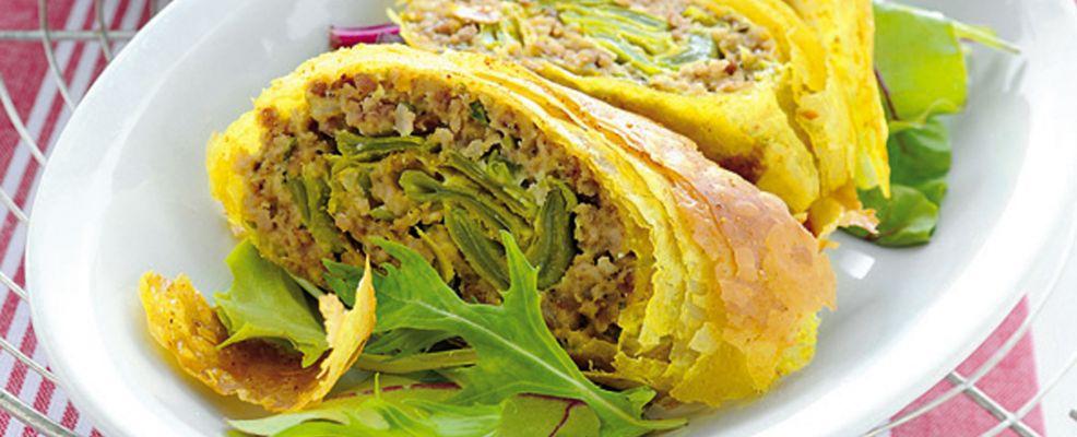 strudel-di-carne-e-piattoni-con-zenzero-e-curry ricetta