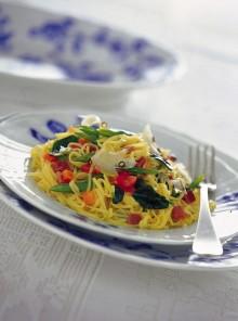 I tagliolini con spinaci novelli e pecorino al pepe