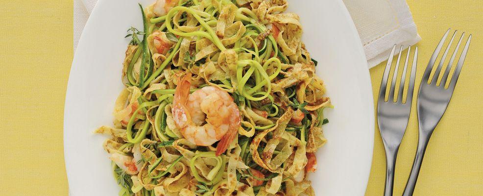 tagliolini-gamberi-e-zucchine