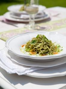 Tagliolini verdi con zucchine