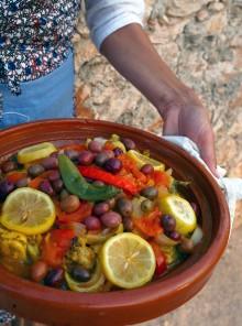 La tajine di pollo con olive e limoni