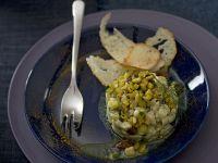 tartara tiepida di rombo e zucchine al curry Sale&Pepe ricetta
