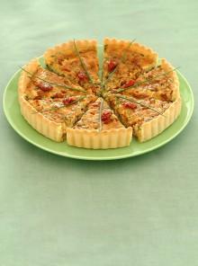 La tarte con formaggio e olive