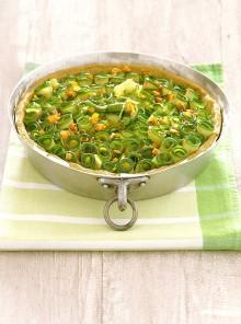 Tarte di zucchine con salsa romesco