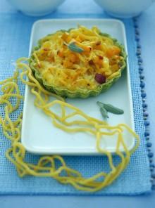 Le tartellette con gramigna, zucca e amaretti