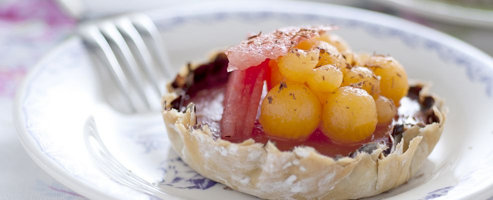tartellette-croccanti-con-anguria-e-melone