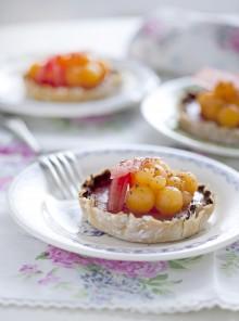 Le tartellette croccanti con anguria e melone