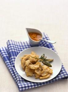 La tempura di stoccafisso e salvia
