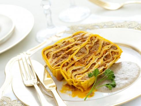 terrina-di-pasta-al-ragu-con-vellutata-di-porcini ricetta Sale&Pepe