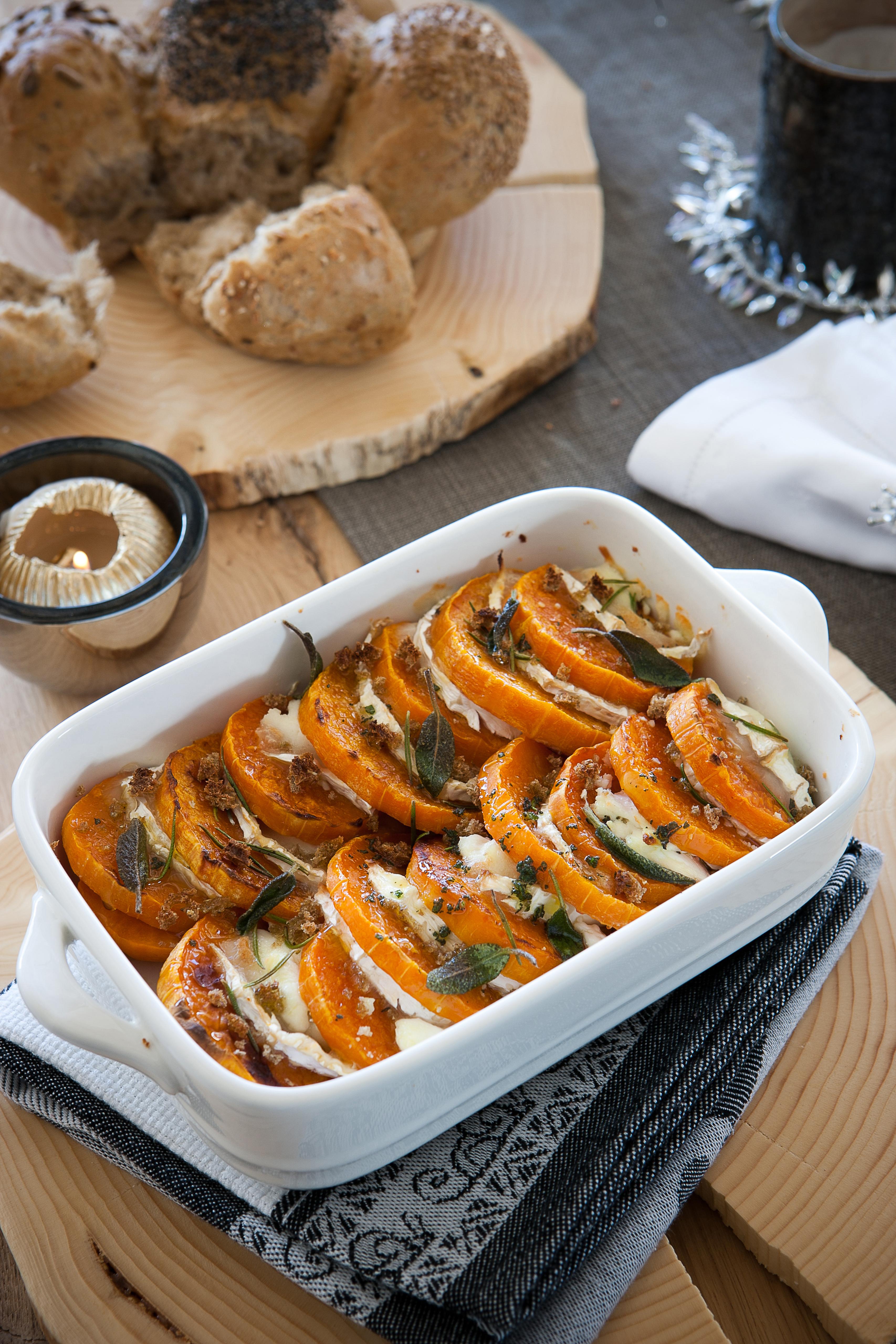 Tian di zucca e formaggio di capra sale pepe for Ricette zucca