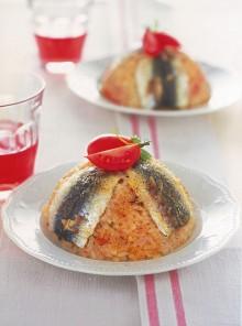 I timballini di riso con le sarde