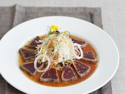 tonno con verdure e vinaigrette alla soia ricetta