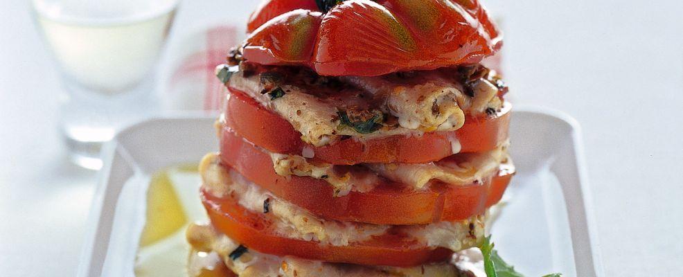 torretta di carpaccio di spada marinato Sale&Pepe ricetta