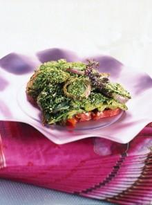 La torretta di verdure gratinate all'origano
