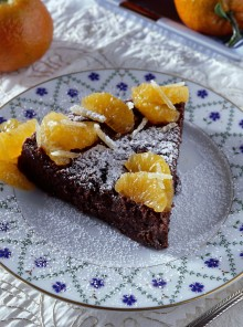 Torta ai 2 cioccolati e mandarini