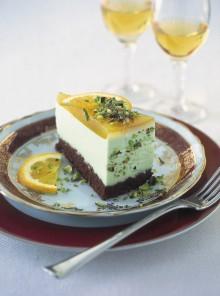 La torta alla gelatina d'arancia