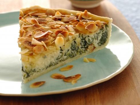 torta alle mandorle gorgonzola e verdure Sale&Pepe