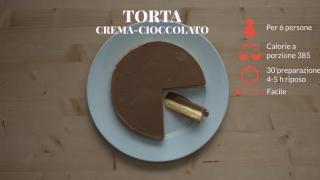 La torta gelato alla crema e cioccolato